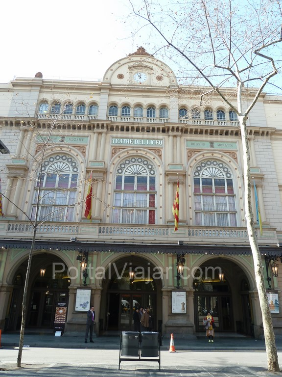 barcelona gran teatro del liceo fachada