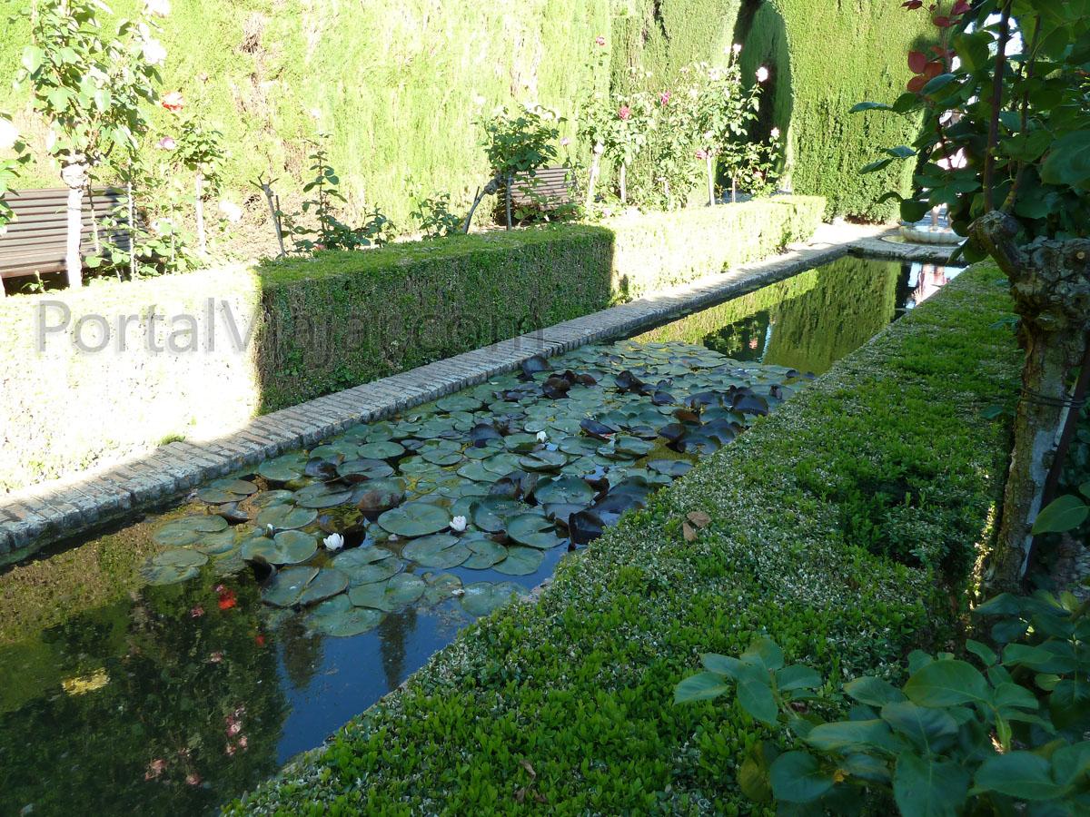 Granada 120 alhambra jardines del generalife portal for Jardin de gomerez granada