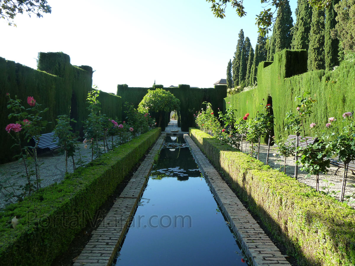 Granada 124 alhambra jardines del generalife portal for Jardines alhambra