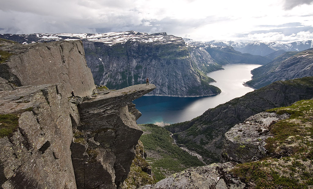 """View of trolltunga"" by TerjeN - Own work. Licensed under Creative Commons Attribution 3.0 via Wikimedia Commons - http://commons.wikimedia.org/wiki/File:View_of_trolltunga.jpg#mediaviewer/File:View_of_trolltunga.jpg"
