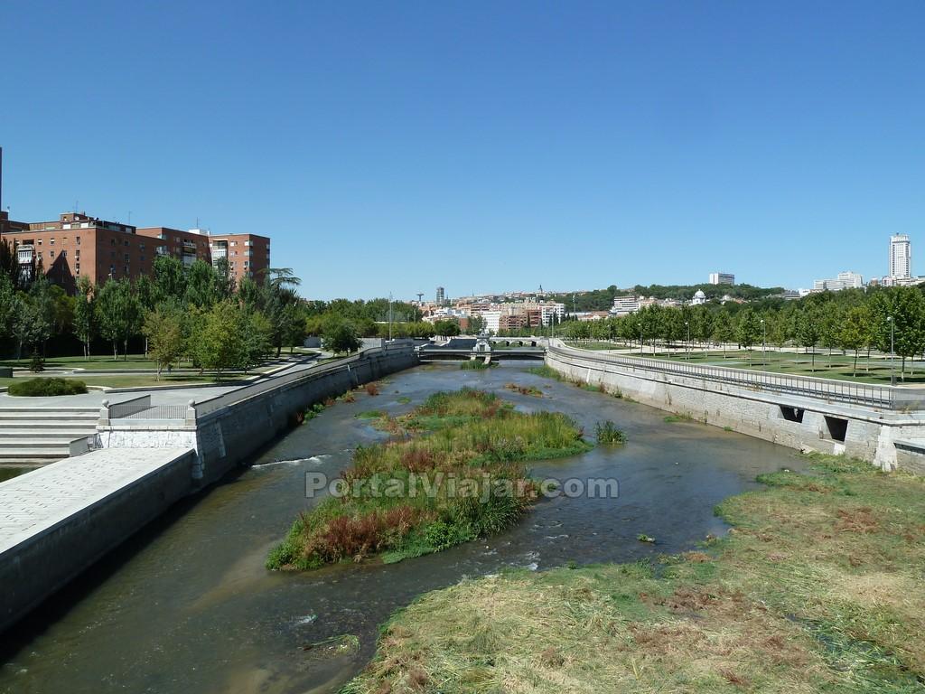 madrid - rio manzanares desde puente de segovia