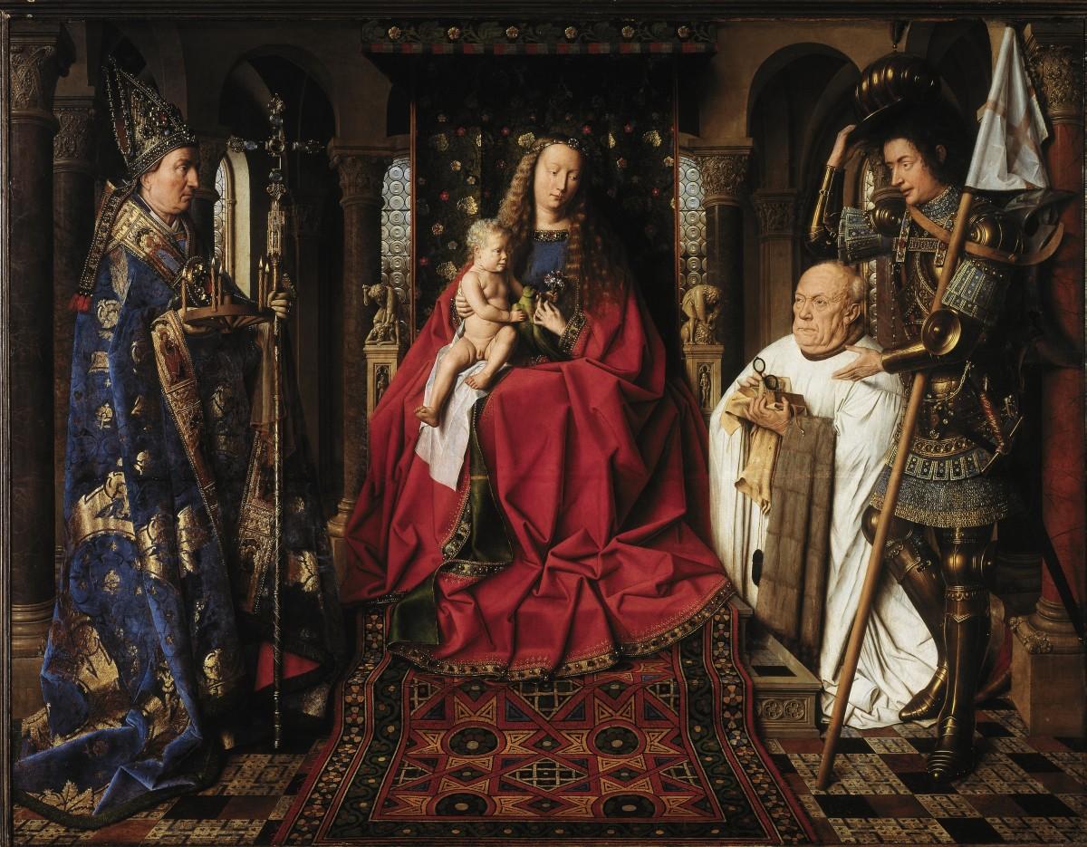 Virgen del Canónigo Van der Paele (Jan Van Eyck), una de las obras más destacadas del Museo Groeninge