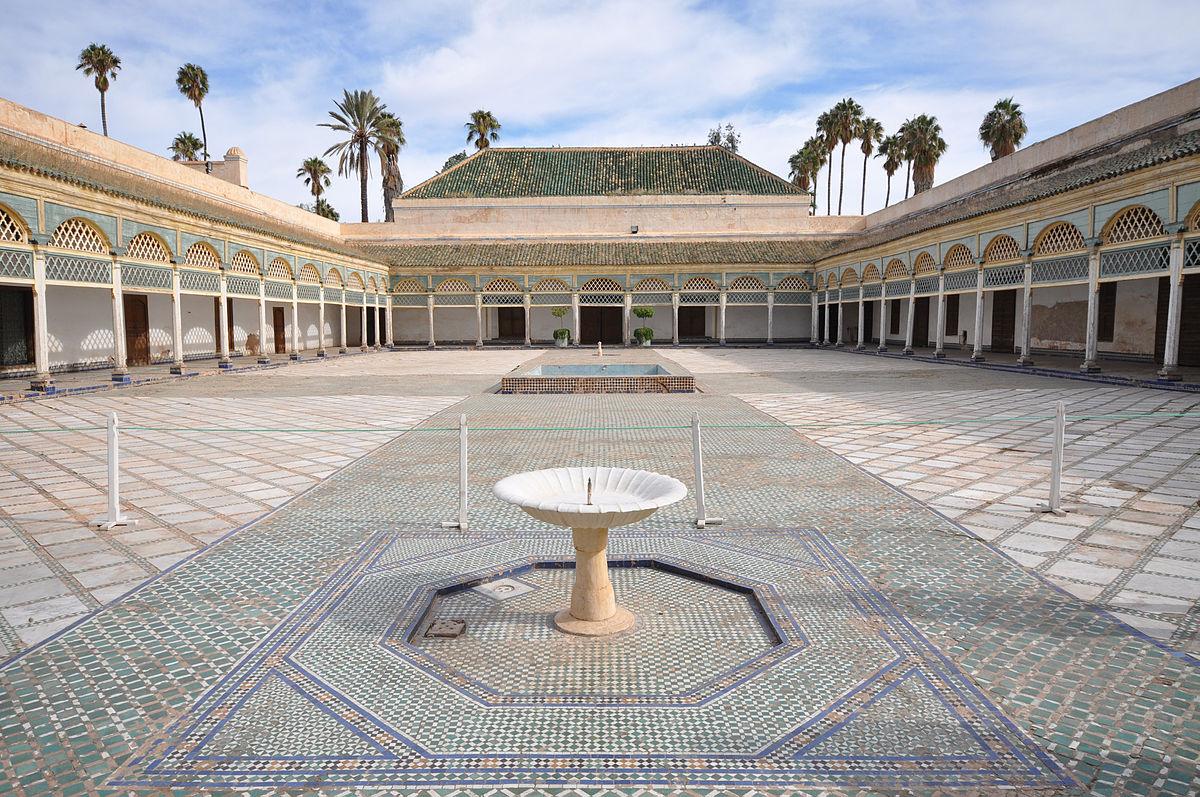 Marrakech - Palacio de la Bahía - patio trasero