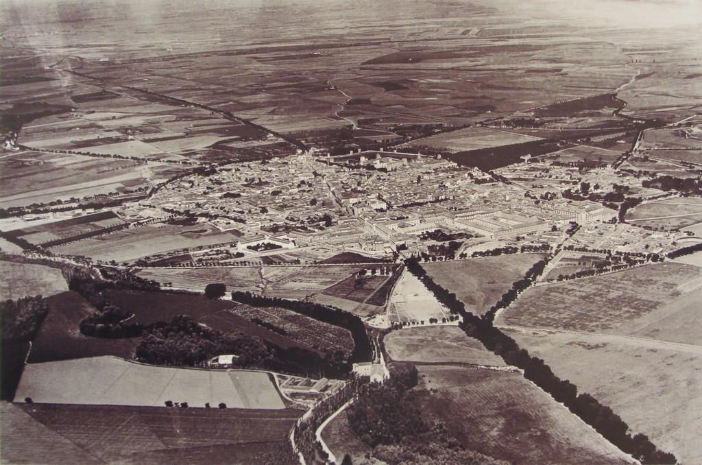 alcala de henares - foto historica 1920 - vista aerea