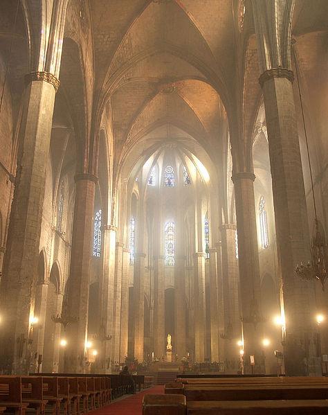 basilica de santa maria del mar barcelona interior