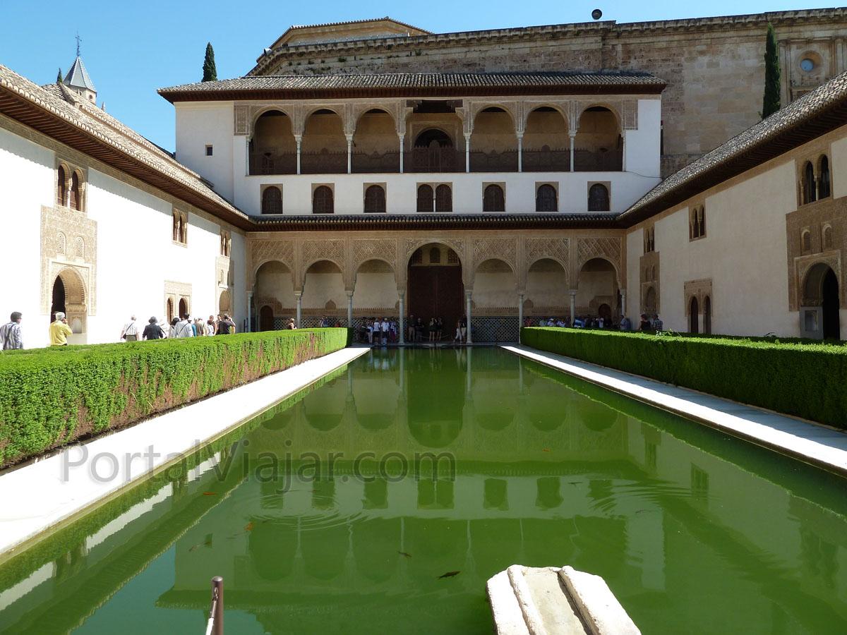 Granada 46 alhambra palacios nazaries palacio de - Banos arabes palacio de comares ...