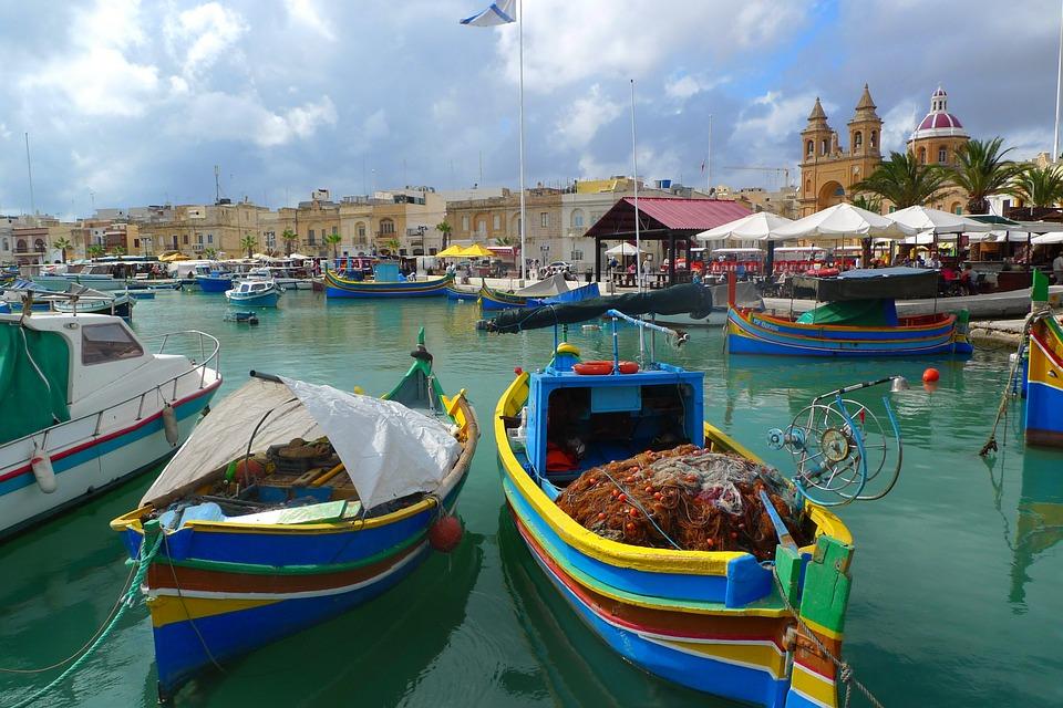 malta puerto de Marsaxlokk