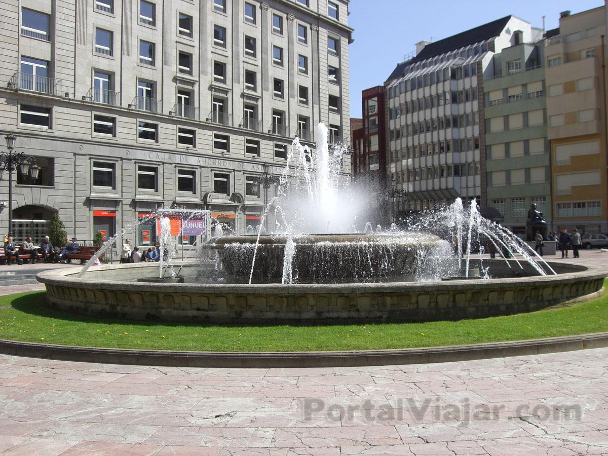 oviedo 1 - fuente - plaza de la escandalera