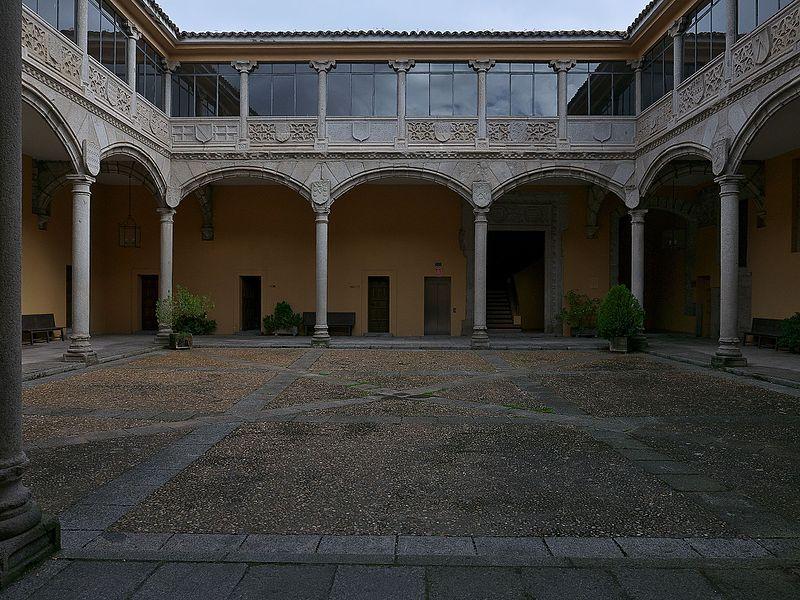 palacio de bracamonte palacio de santa cruz - patio interior