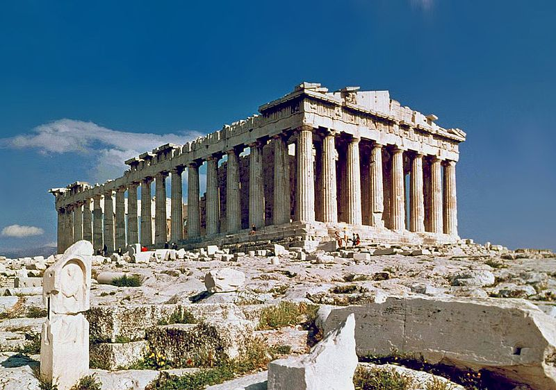 «The Parthenon in Athens» de Steve Swayne - File:O Partenon de Atenas.jpg, originally posted to Flickr as The Parthenon Athens. Disponible bajo la licencia CC BY 2.0 vía Wikimedia Commons - https://commons.wikimedia.org/wiki/File:The_Parthenon_in_Athens.jpg#/media/File:The_Parthenon_in_Athens.jpg