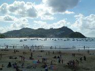 san sebastian playa de la concha monte igeldo mendia