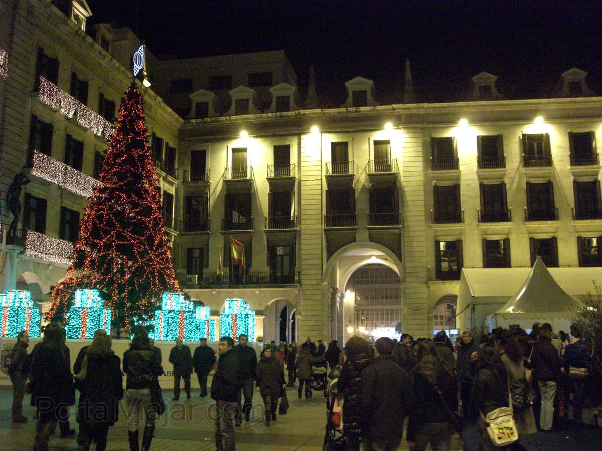 Plaza Porticada de noche (Santander)