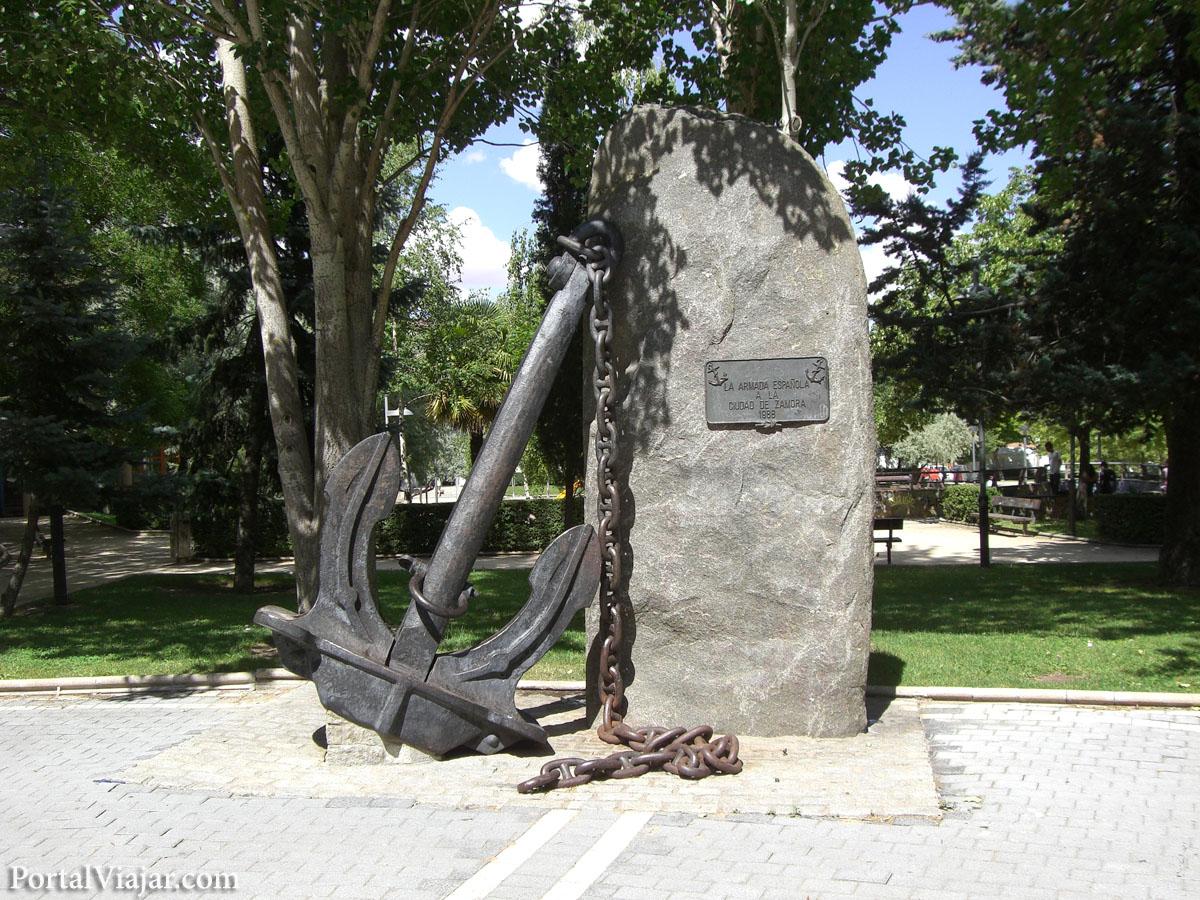 zamora - monumento de la armada española